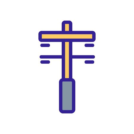 two chain intermediate support icon vector. two chain intermediate support sign. color symbol illustration