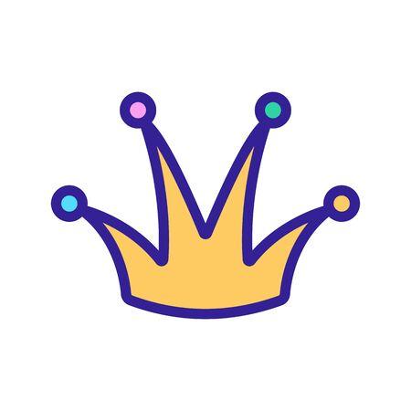 crown icon vector. crown sign. color symbol illustration
