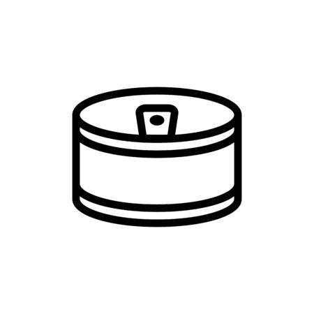 small round copper shape icon vector. small round copper shape sign. isolated contour symbol illustration