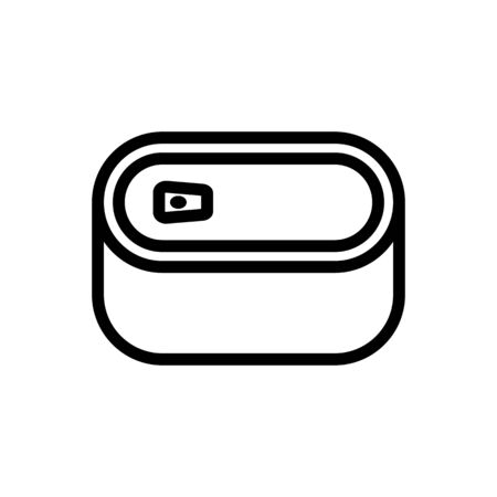 oval tin can top view icon vector. oval tin can top view sign. isolated contour symbol illustration