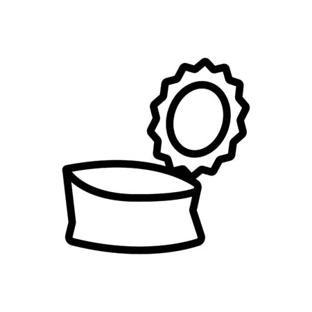 open tin can icon vector. open tin can sign. isolated contour symbol illustration