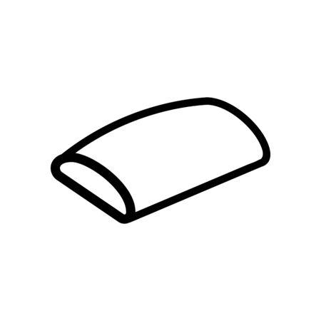 rounded sofa cushion icon vector. rounded sofa cushion sign. isolated contour symbol illustration