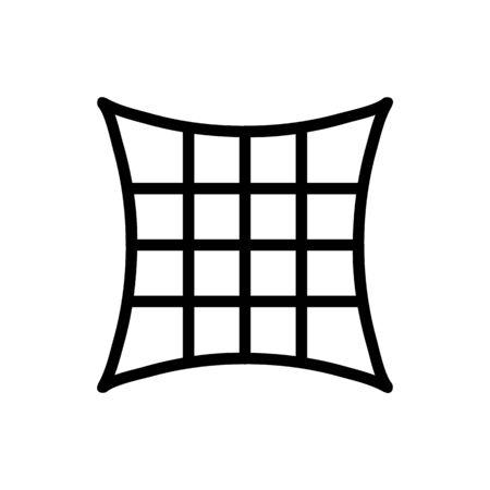 pillow fullness icon vector. pillow fullness sign. isolated contour symbol illustration