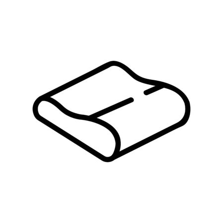 sofa pillow top view icon vector. sofa pillow top view sign. isolated contour symbol illustration