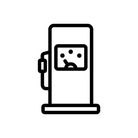 gas control indicator icon vector. gas control indicator sign. isolated contour symbol illustration