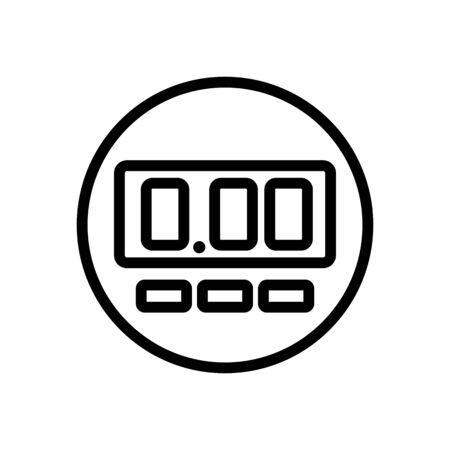 electronic one meter icon vector. electronic one meter sign. isolated contour symbol illustration