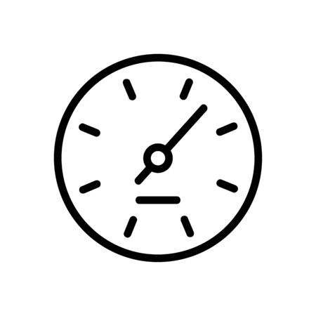 hours indicator icon vector. hours indicator sign. isolated contour symbol illustration