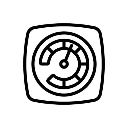 acceleration indicator icon vector. acceleration indicator sign. isolated contour symbol illustration Illusztráció