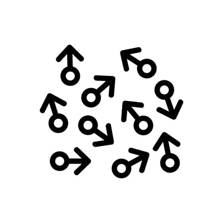 chaos shooter directions icon vector. chaos shooter directions sign. isolated contour symbol illustration Vetores