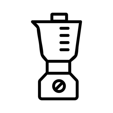 blender bowl volume icon vector. blender bowl volume sign. isolated contour symbol illustration