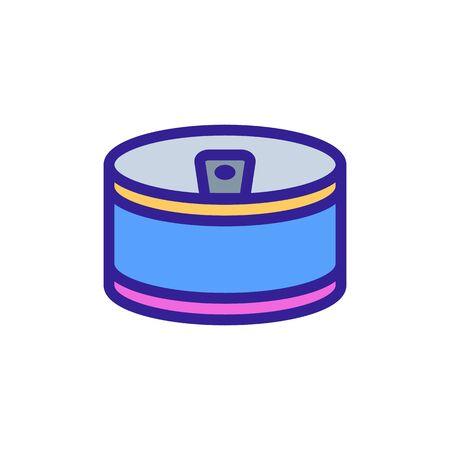 small round copper shape icon vector. small round copper shape sign. color symbol illustration