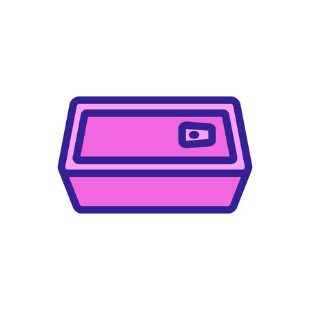 square tin ship icon vector. square tin ship sign. color symbol illustration