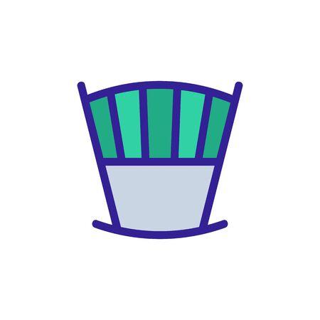 crib rocking chair rear view icon vector. crib rocking chair rear view sign. color symbol illustration Ilustração