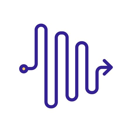 gradual reduction of chaos icon vector. gradual reduction of chaos sign. color symbol illustration