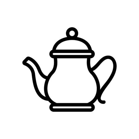 porcelain teapot with lid icon vector. porcelain teapot with lid sign. isolated contour symbol illustration
