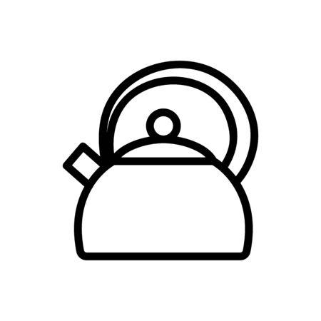teapot with protective round handle icon vector. teapot with protective round handle sign. isolated contour symbol illustration