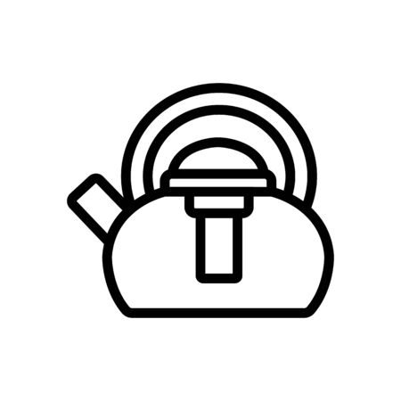 kettle with press icon vector. kettle with press sign. isolated contour symbol illustration  イラスト・ベクター素材