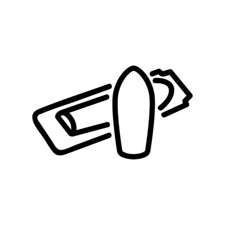 use of suppositories for hemorrhoids icon vector. use of suppositories for hemorrhoids sign. isolated contour symbol illustration Ilustracja
