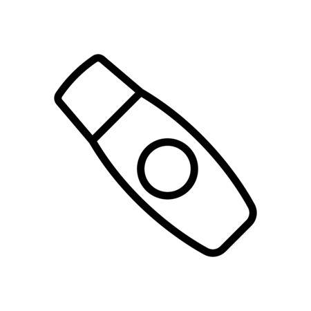 moisturizing balm icon vector. moisturizing balm sign. isolated contour symbol illustration