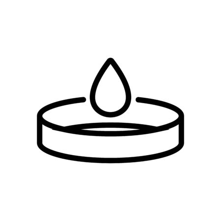 outflow of blood icon vector. outflow of blood sign. isolated contour symbol illustration