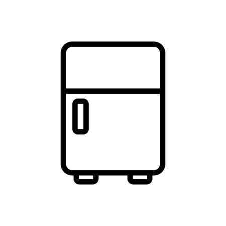 normal type of make-up refrigerator icon vector. normal type of make-up refrigerator sign. isolated contour symbol illustration