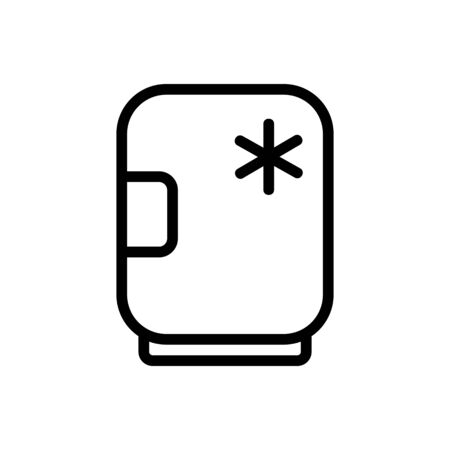 freezer container icon vector. freezer container sign. isolated contour symbol illustration