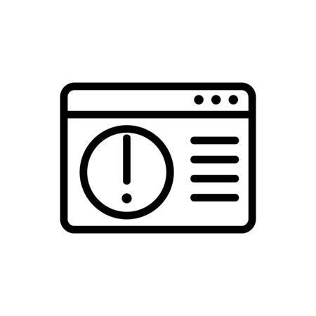 error accessing personal folder icon vector. error accessing personal folder sign. isolated contour symbol illustration Illusztráció