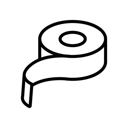 beginning of tape icon vector. beginning of tape sign. isolated contour symbol illustration