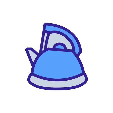 kettle with protective handle icon vector. kettle with protective handle sign. color symbol illustration