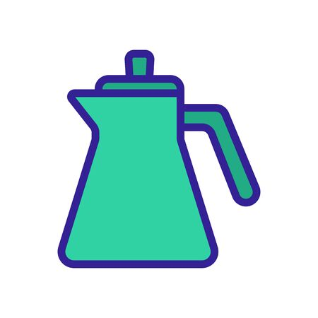 kettle for liquid spill icon vector. kettle for liquid spill sign. color symbol illustration  イラスト・ベクター素材