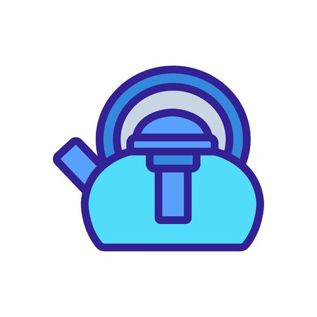 kettle with press icon vector. kettle with press sign. color symbol illustration  イラスト・ベクター素材