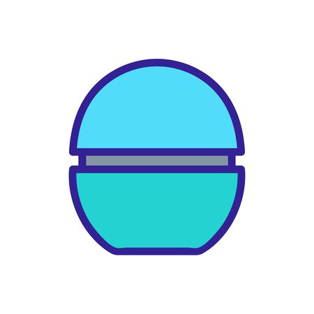 egg balm icon vector. egg balm sign. color symbol illustration