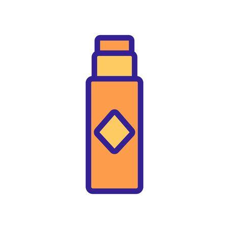 lip gloss icon vector. lip gloss sign. color symbol illustration
