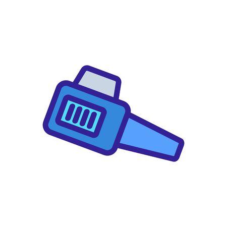 garden blower gasoline blower icon vector. garden blower gasoline blower sign. color symbol illustration