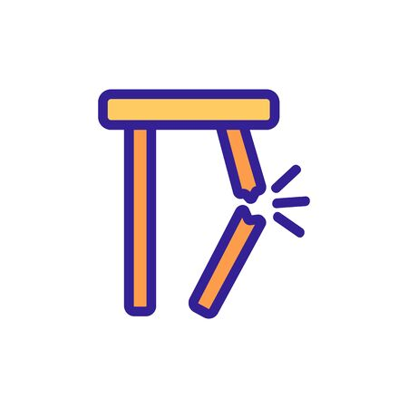 chair breakdown icon vector. chair breakdown sign. color symbol illustration