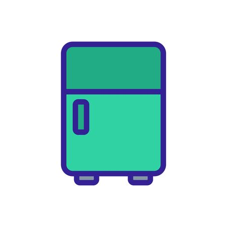 normal type of make-up refrigerator icon vector. normal type of make-up refrigerator sign. color symbol illustration