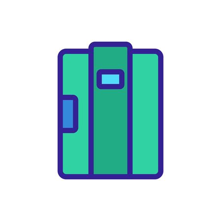 doors to refrigerated container icon vector. doors to refrigerated container sign. color symbol illustration Иллюстрация