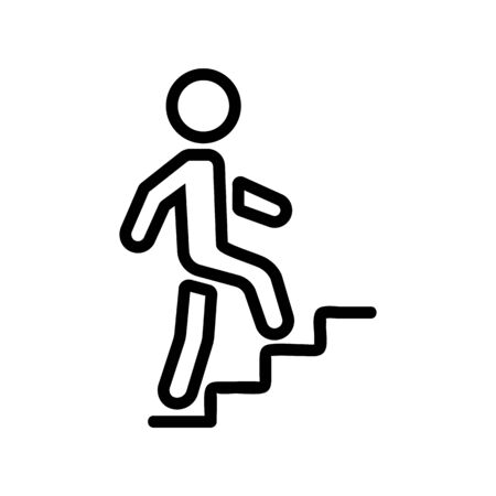 upstairs man icon vector. upstairs man sign. isolated contour symbol illustration