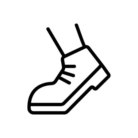 working foot when walking icon vector. working foot when walking sign. isolated contour symbol illustration
