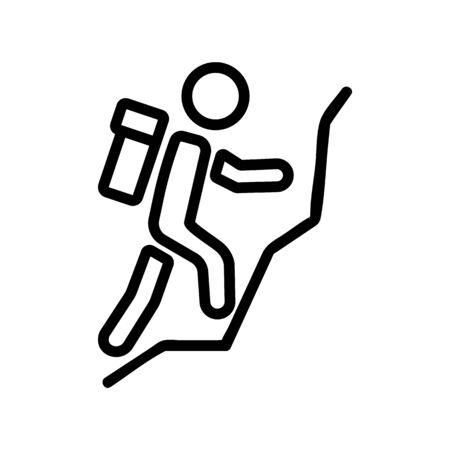 mountain climber icon vector. mountain climber sign. isolated contour symbol illustration