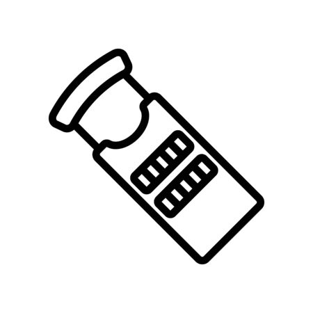 ordinary hand grater for food icon vector. ordinary hand grater for food sign. isolated contour symbol illustration