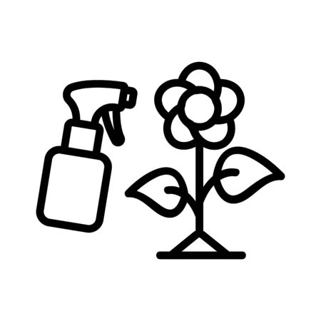 spraying flower dispenser icon vector. spraying flower dispenser sign. isolated contour symbol illustration