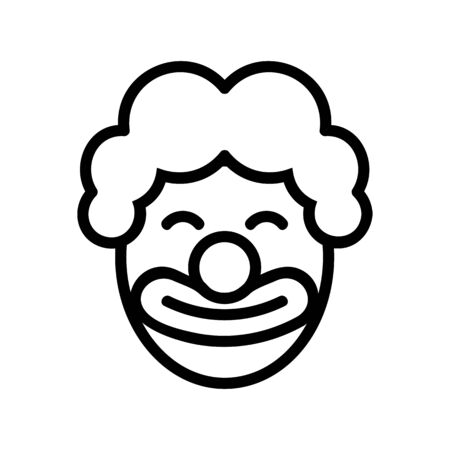 satisfied clown in wig icon vector. satisfied clown in wig sign. isolated contour symbol illustration