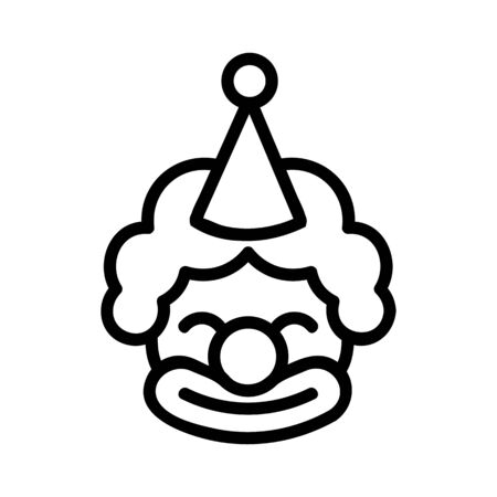 satisfied birthday clown icon vector. satisfied birthday clown sign. isolated contour symbol illustration