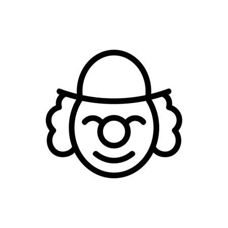 happy elderly clown in hat icon vector. happy elderly clown in hat sign. isolated contour symbol illustration