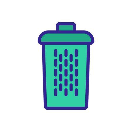 fine mesh home basket icon vector. fine mesh home basket sign. color symbol illustration
