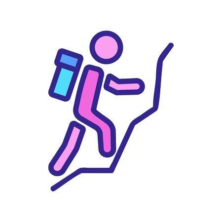 mountain climber icon vector. mountain climber sign. color symbol illustration