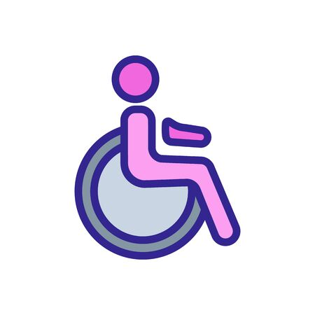 handicapped person icon vector. handicapped person sign. color symbol illustration