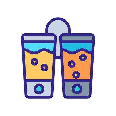 two hanging pressure sensitive soap dispenser icon vector. two hanging pressure sensitive soap dispenser sign. color symbol illustration
