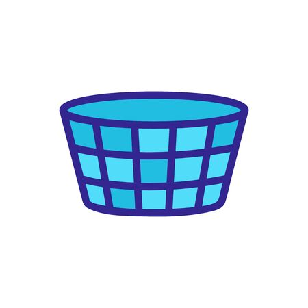 dirty laundry basket icon vector. dirty laundry basket sign. color symbol illustration